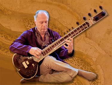 Steven Landsberg playing the Sitar