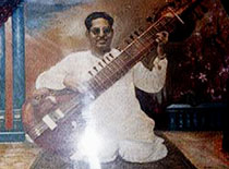 Mushtaq Ali Khan playing the Surbahar